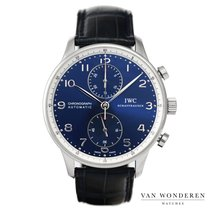 IWC Portuguese Chronograph Staal 41mm Blauw Nederland, Purmerend