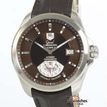 TAG Heuer Grand Carrera Staal 40.2mm Bruin