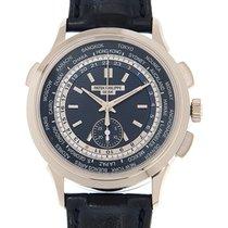 Patek Philippe World Time Chronograph Белое золото 39.5mm Синий