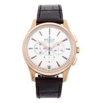 Zenith Rose gold Automatic Silver No numerals 42mm pre-owned Captain Chronograph
