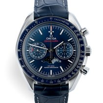 Omega Speedmaster Professional Moonwatch Moonphase Staal 44.2mm Blauw