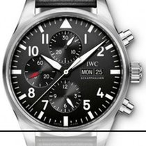 IWC Pilot Chronograph Staal 43mm Zwart Arabisch Nederland, The Netherlands