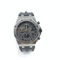 Audemars Piguet Steel Automatic Grey Arabic numerals 42mm pre-owned Royal Oak Offshore Chronograph