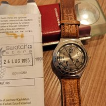 Swatch Steel Quartz Grey Arabic numerals 37mm pre-owned