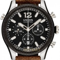 Union Glashütte Belisar Chronograph Otel 44mm Negru