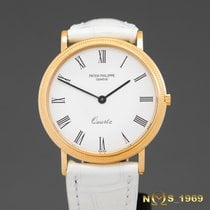 Patek Philippe Calatrava Yellow gold 33 mm case without crownmm White Roman numerals