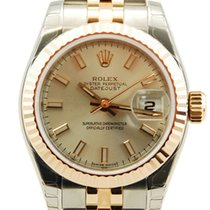 Rolex Ladies DateJust Two Tone 18kt RG/SS Silver Dial-179171