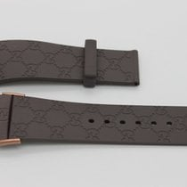 """Gucci 26mm Genuine Replacement Strap Men's Brown Gucci  """"G""""..."""