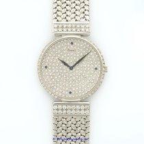 Piaget Classique Ultra Thin Diamond 18k White Gold Watch...