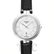 ティソ (Tissot) Tissot Flamingo White MOP Steel/Leather 26mm -...