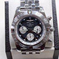 Breitling Ab0110 Chronomat 44 Black Dial Stainless Steel Watch