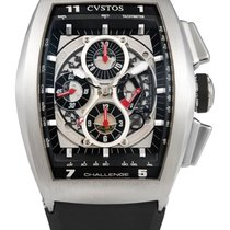 Cvstos , Stainless Steel Tonneau-form Automatic Chronograph...