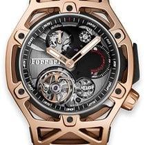 Hublot Roségold Handaufzug Schwarz neu Techframe Ferrari Tourbillon Chronograph