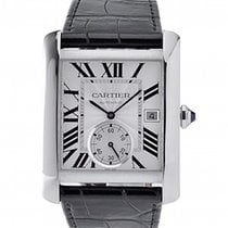 Cartier Tank MC Steel 34.3mm Silver Roman numerals UAE, Dubai