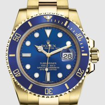 Rolex Submariner Date occasion 40mm Bleu Date Or jaune