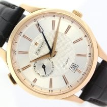 Zenith Elite Dual Time Oro rosa 40mm Blanco