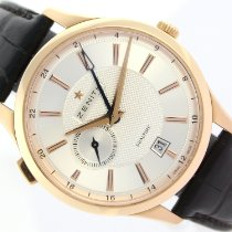 Zenith Elite Dual Time Rose gold 40mm White
