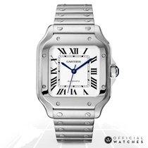 Cartier Santos (submodel) Сталь 35mm Белый Римские