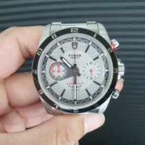 Tudor Grantour Chrono Fly-Back Staal 42mm Wit Geen cijfers