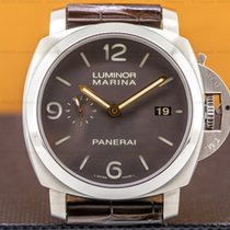 Panerai Luminor Marina 1950 3 Days Automatic pre-owned 44mm Brown Date Crocodile skin