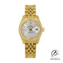 Rolex Lady-Datejust Yellow gold 26mm Silver No numerals