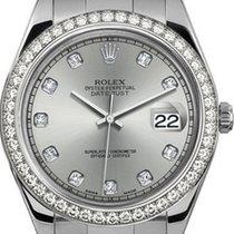 Rolex 41mm Datejust II Stainless Steel 116334 Custom Silver...