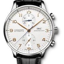 IWC Portuguese Chronograph Steel Silver Arabic numerals