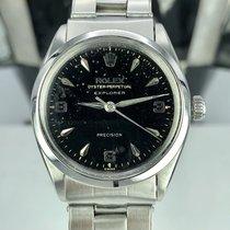 Rolex rare Explorer Ref 5500 Glossy Gilt Dial 1962