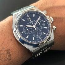 Vacheron Constantin Stahl Automatik Blau Keine Ziffern 42mm gebraucht Overseas Chronograph