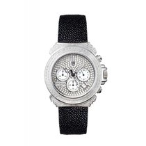 Lancaster Italy Pillo Deco Diamond Chronograph Watch Silver...