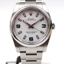 Rolex Oyster Perpetual 34 Aço 34mm Branco Árabes