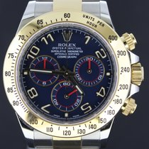 Rolex Daytona Chronograph Gold&Steel Blue Dial,Box&Papers/2014...