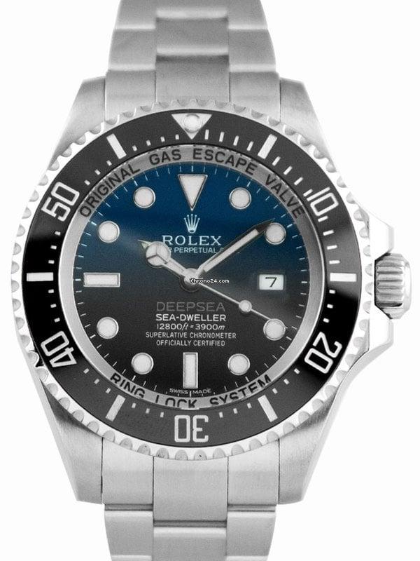 Rolex Sea,Dweller Deepsea Stainless Steel Deep Blue Dial , 116660