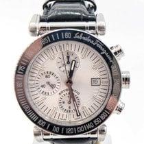 Salvatore Ferragamo Chronograph 42mm Automatik gebraucht Weiß