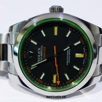 Rolex Milgauss Сталь 40mm Зелёный