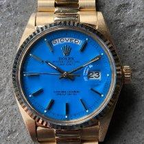 Rolex Or jaune Remontage automatique Bleu Sans chiffres 36mm nouveau Day-Date 36