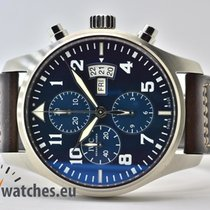 IWC Fliegeruhr Chronograph Stahl 43mm Blau Arabisch Deutschland, Iffezheim