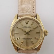 Rolex Or jaune Remontage automatique Blanc Sans chiffres 31mm occasion Oyster Perpetual 31