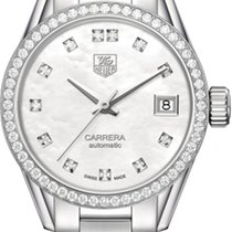 TAG Heuer Carrera Lady new Automatic Watch with original box WAR2415-BA0776