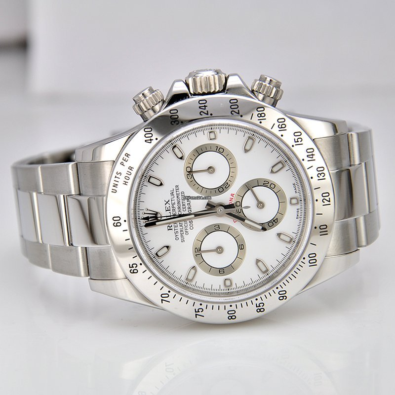 Rolex Daytona Stainless Steel White Dial For 19 950 For Sale From A