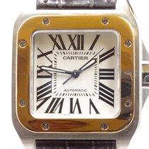 Cartier Santos 100 Gold/Stahl 38mm Weiß Römisch Deutschland, Hannover