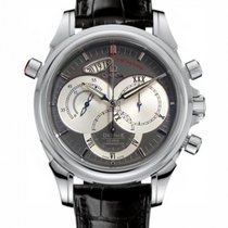 Omega DeVille Co-Axial Rattrapante Grey Dial Mens Watch