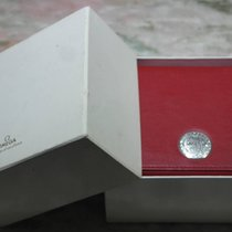 Omega vintage watch box leather red for speedmaster  or seamaster