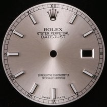 "Rolex Org. Rolex ""New Style"" Datejust Silver Stick..."
