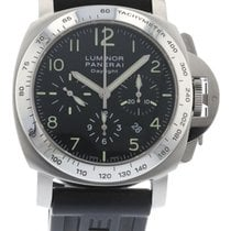 Panerai Luminor Daylight Chrono PAM 196 Watch with Rubber...