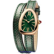 Bulgari Serpenti Rose gold 27mm Green Roman numerals United States of America, California, Newport Beach