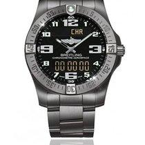 Breitling Chronograph 43mm Quartz 2015 pre-owned Aerospace EVO Black