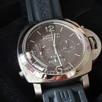 파네라이 Luminor 1950 8 Days Chrono Monopulsante GMT 중고시계 44mm 티타늄