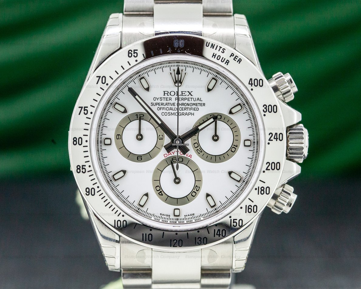 Rolex 116520 Daytona White Dial Ss Ss New Old Stock Fully Stickered 31096