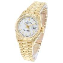 Rolex Lady-Datejust Жёлтое золото 26mm Белый